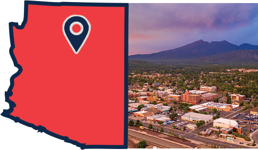 A map of where our Flagstaff CDL school is located