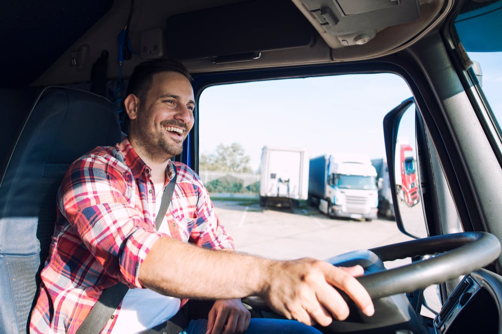 A student at our Flagstaff truck driving school